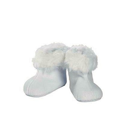 Picture of White Faux Fur Trimmed Boots