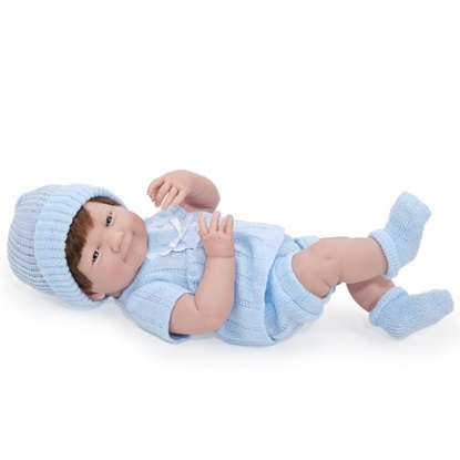 Picture of La Newborn - 15 inch Real Boy with Brown Hair