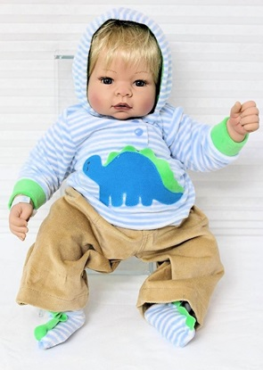 Picture of Deluxe  Baby Munchkin in Dinosaur Outfit