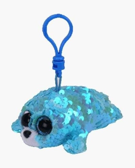"Picture of ""Waves"" the Seal - Flippables -  Sequin Plush Key Rings - New in 2019"