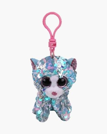"""Picture of """"Whimsy"""" the Cat- Flippables - Sequin Plush Key Rings - New in 2019"""