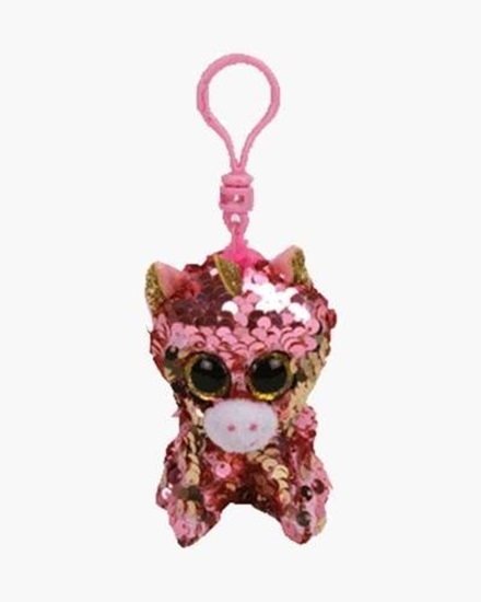 "Picture of ""Sunset"" the Unicorn- Flippables - Sequin Plush Key Rings - New in 2019"