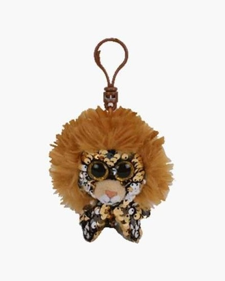 """Picture of """"Regal"""" the Lion- Flippables - Sequin Plush Key Rings - New in 2019"""