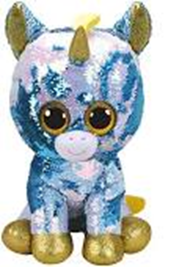 """Picture of """"Dazzle"""" the Unicorn - Flippables - Large Sequin Plush - New in 2019"""