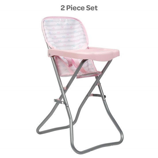 "Picture of Pink High Chair - New Print -  Fits up to 16 "" Dolls - New in 2019"