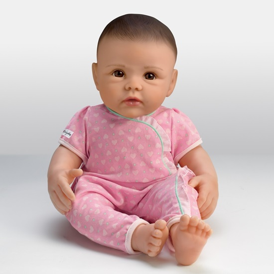 Picture of So Truly Mine Baby - Black Hair, Brown Eyes - Cloth Body