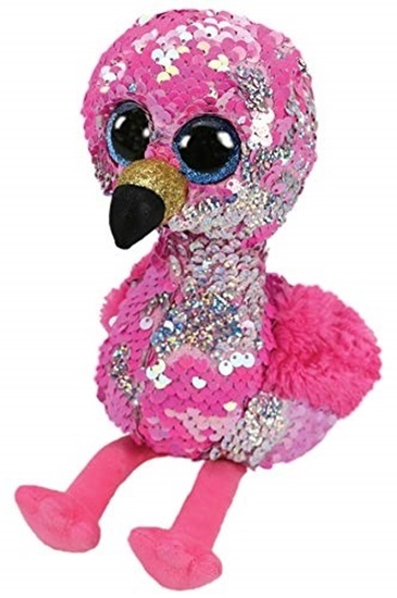 "Picture of ""Pinky"" The Flamingo - Flippables - Large Sequin Plush - New in 2019"