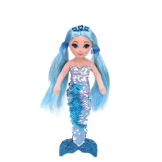 """Picture of Sea Sequins Plush Mermaid - """"Indigo"""" - 18 inches"""