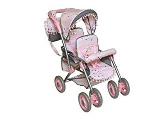 Picture of De Cuevas Twin Stroller - Pink